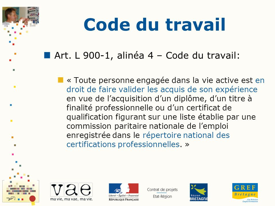 Code du travail Art. L 900-1, alinéa 4 – Code du travail: