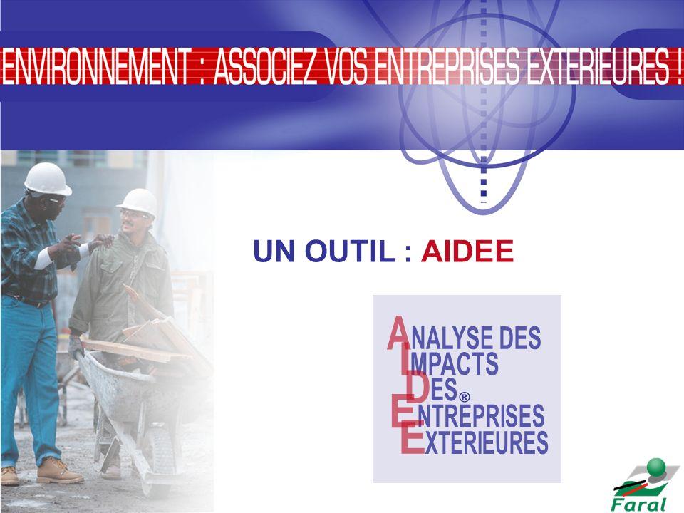 UN OUTIL : AIDEE NTREPRISES E XTERIEURES I A MPACTS NALYSE DES D ES ®