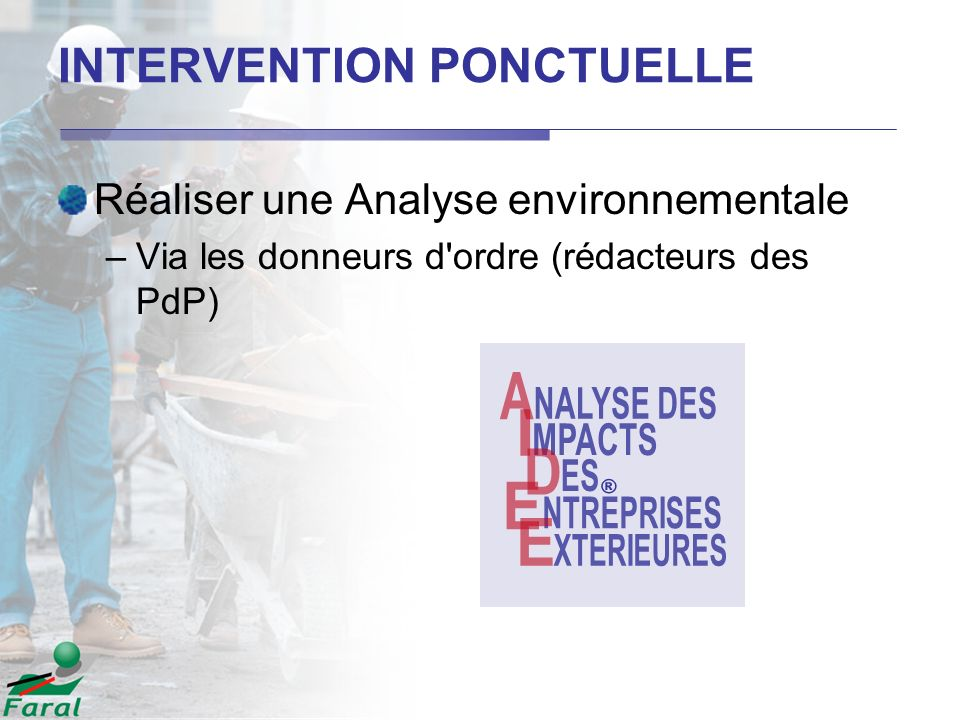 INTERVENTION PONCTUELLE