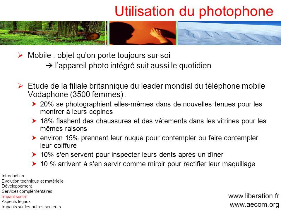 Utilisation du photophone