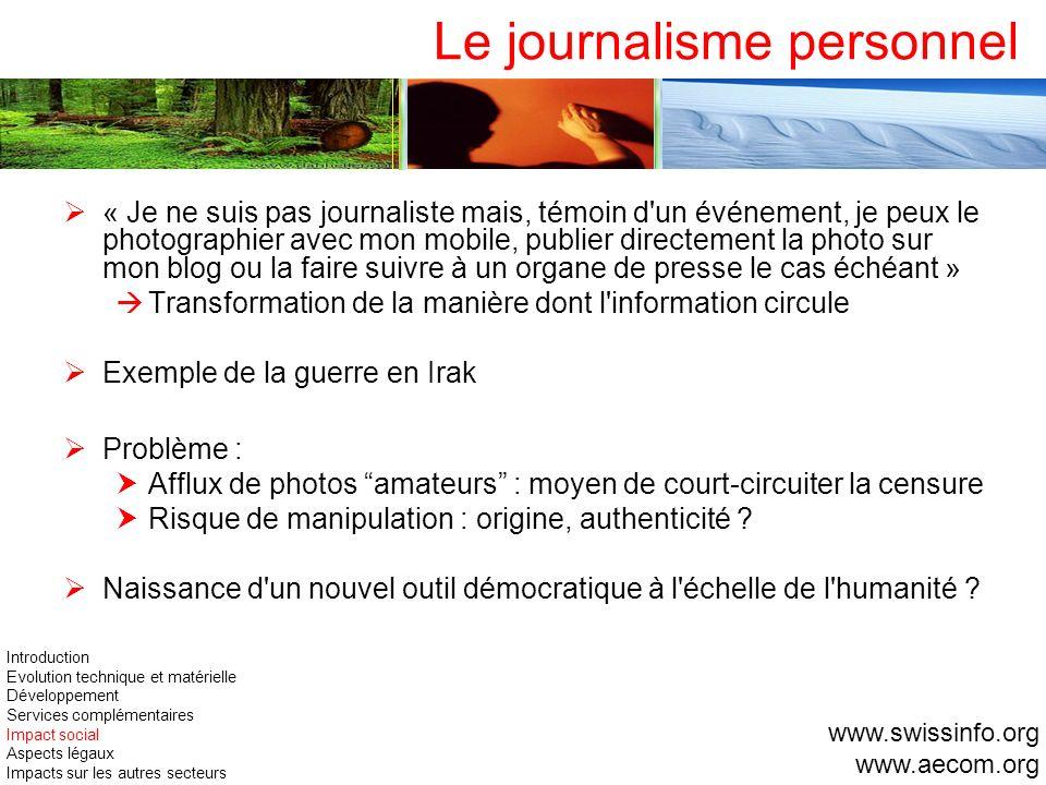 Le journalisme personnel