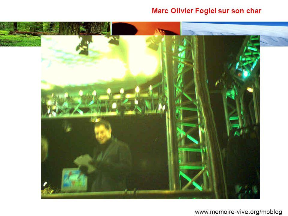 Marc Olivier Fogiel sur son char