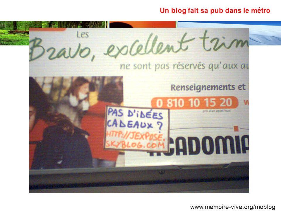 Un blog fait sa pub dans le métro