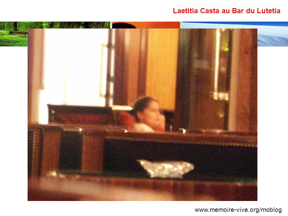 Laetitia Casta au Bar du Lutetia