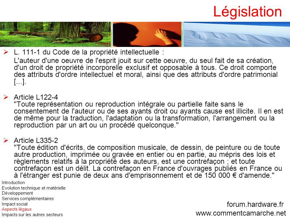 Législation L. 111-1 du Code de la propriété intellectuelle :