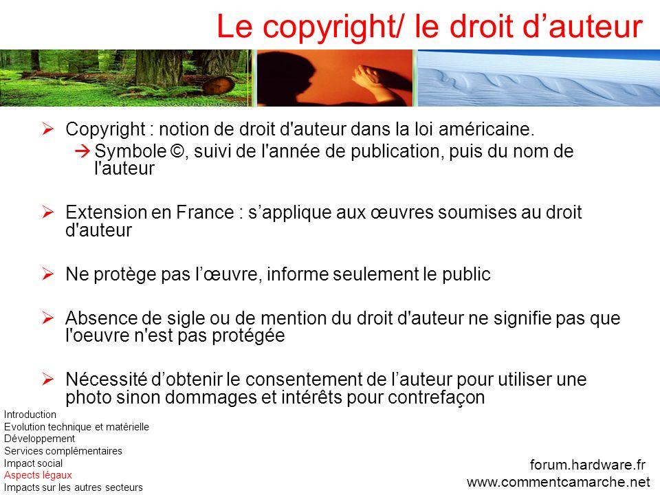 Le copyright/ le droit d'auteur