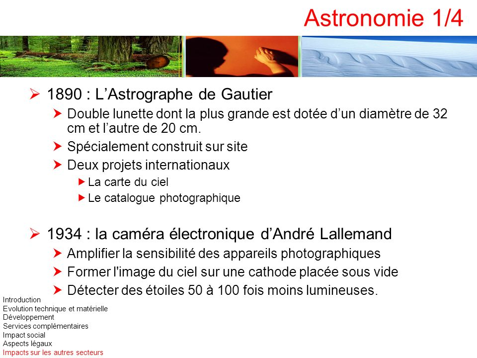 Astronomie 1/4 1890 : L'Astrographe de Gautier
