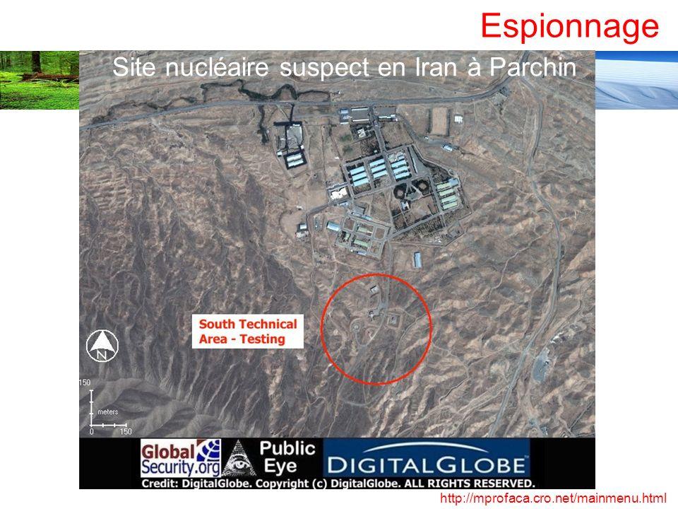 Site nucléaire suspect en Iran à Parchin