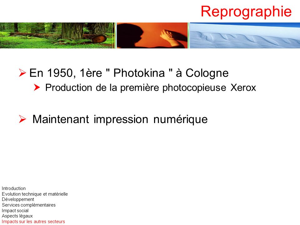 Reprographie En 1950, 1ère Photokina à Cologne