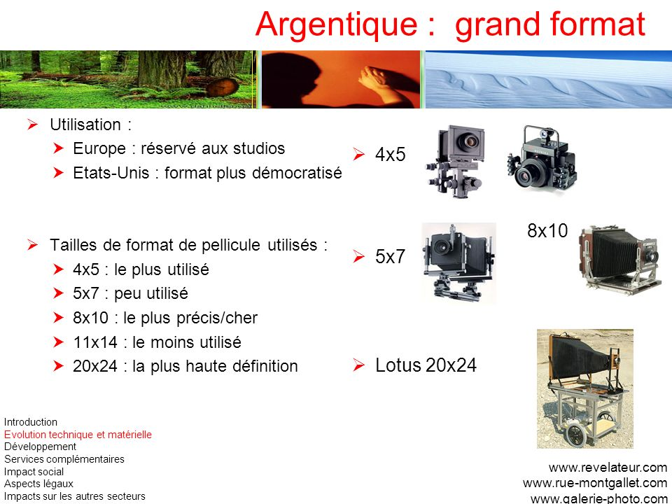 Argentique : grand format
