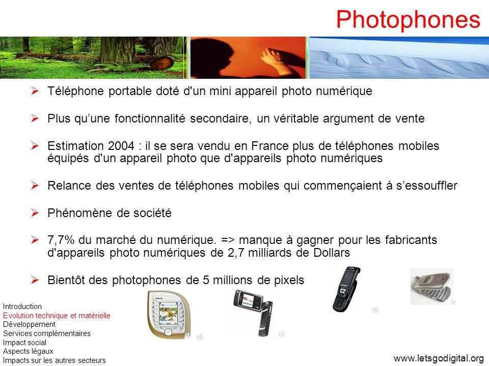 Photophones Téléphone portable doté d un mini appareil photo numérique