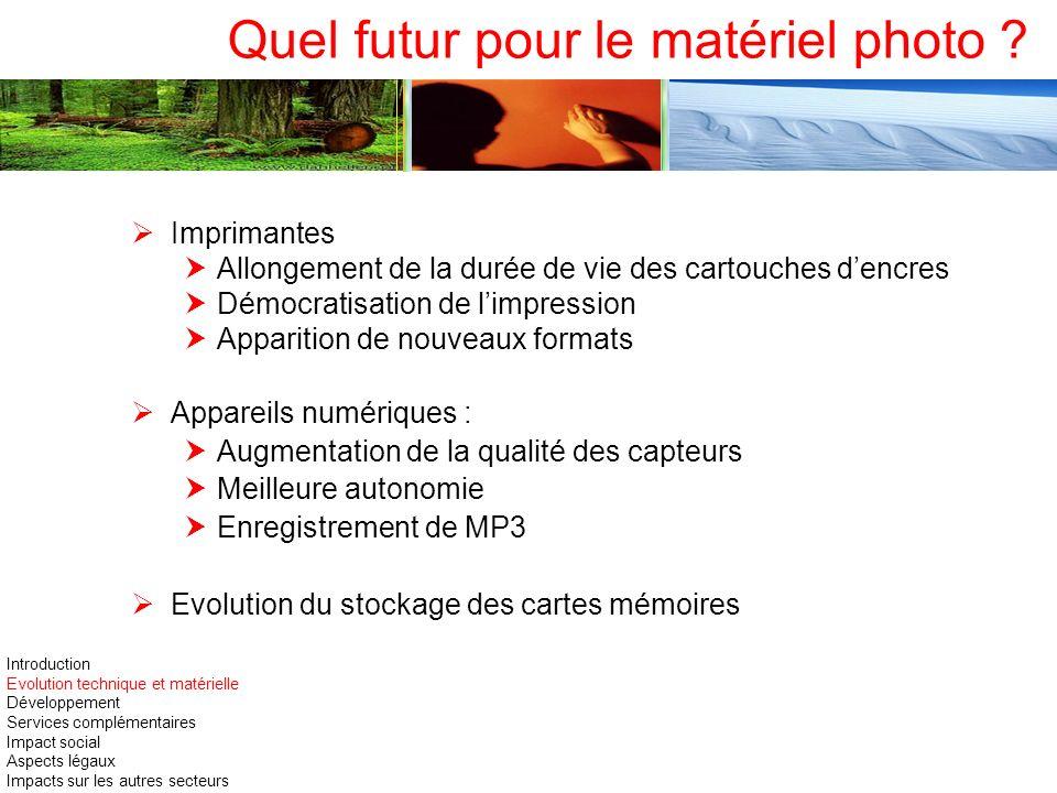 Quel futur pour le matériel photo