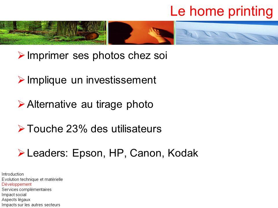 Le home printing Imprimer ses photos chez soi