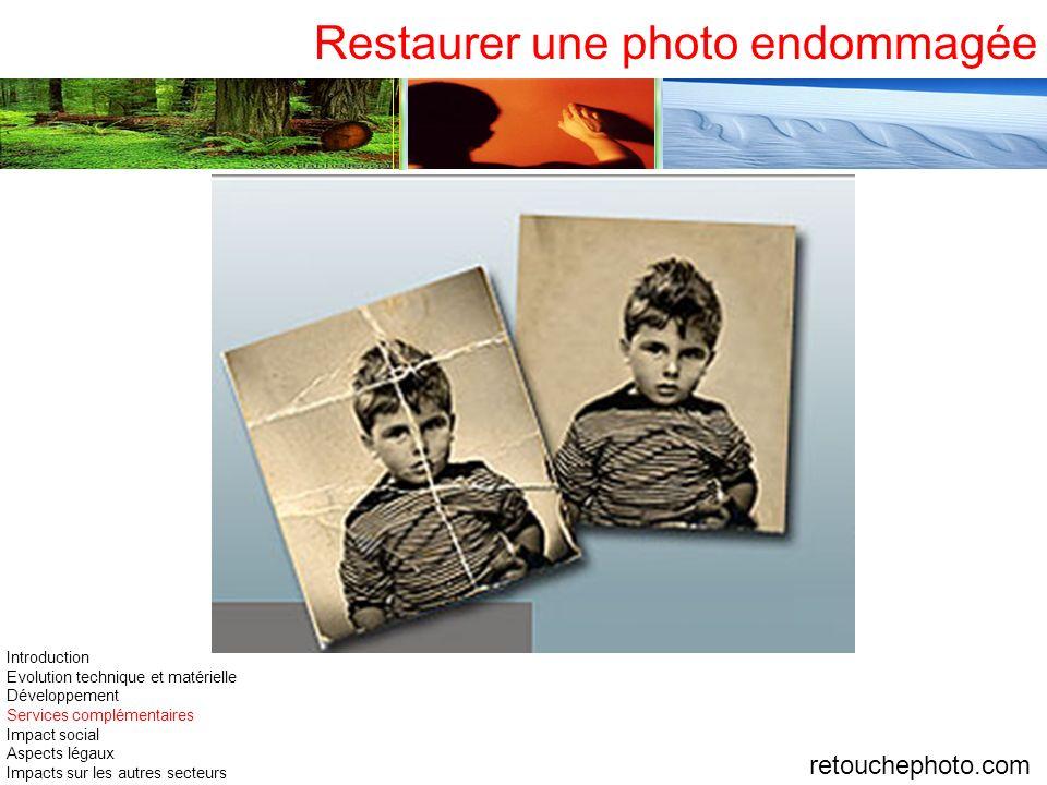 Restaurer une photo endommagée