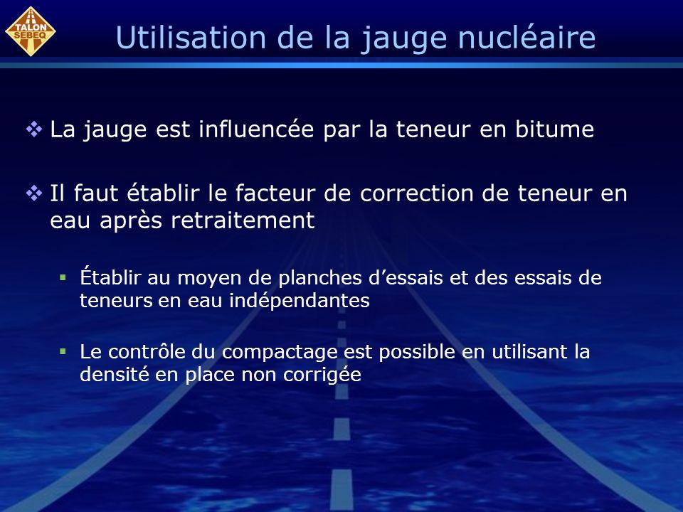 Utilisation de la jauge nucléaire