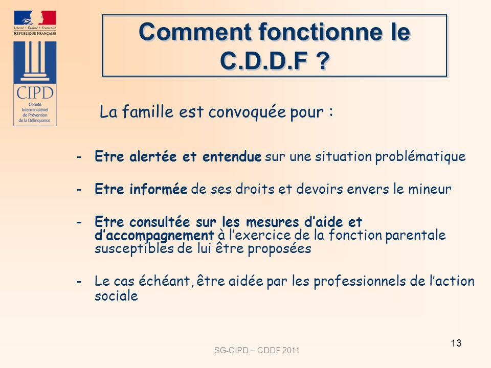 Comment fonctionne le C.D.D.F