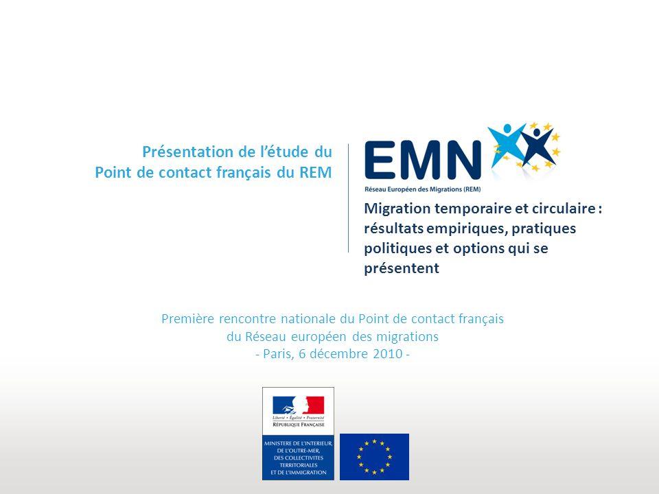 Présentation de l'étude du Point de contact français du REM