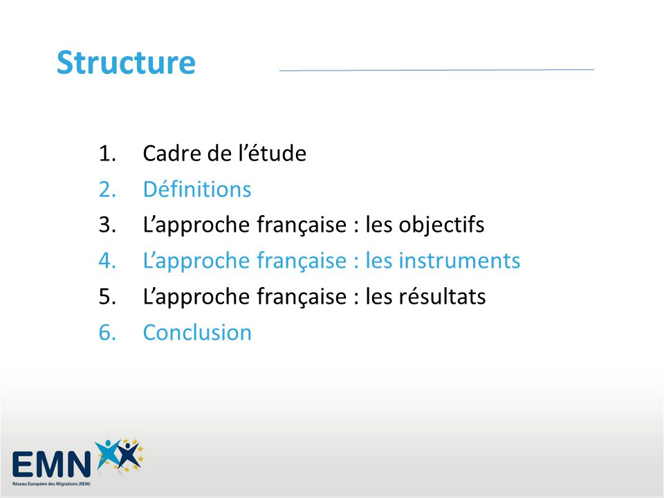 Structure Cadre de l'étude Définitions