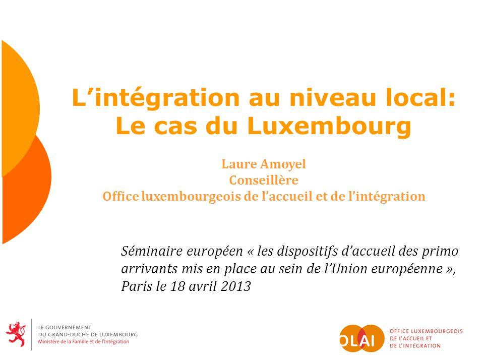 L'intégration au niveau local: