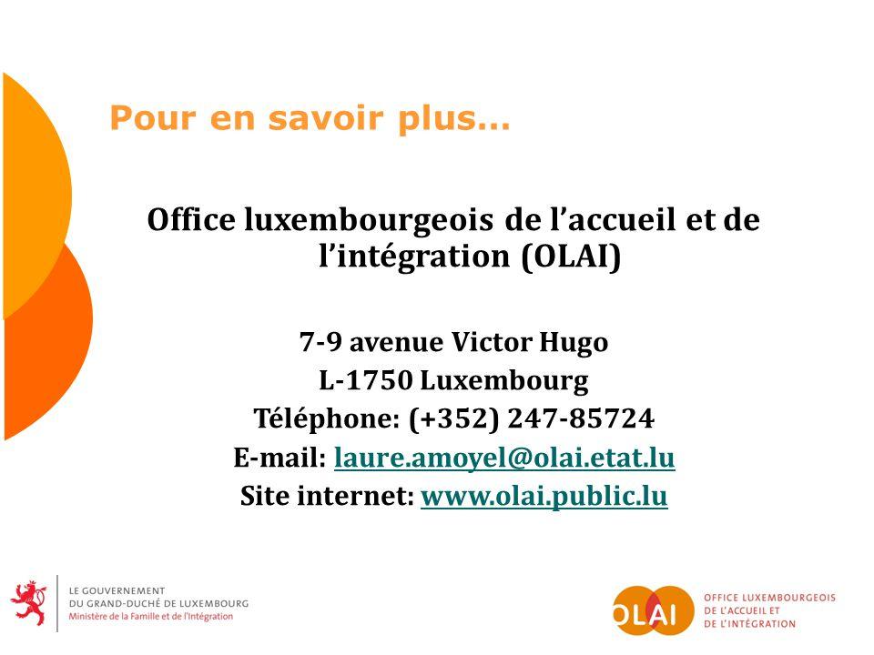 Office luxembourgeois de l'accueil et de l'intégration (OLAI)