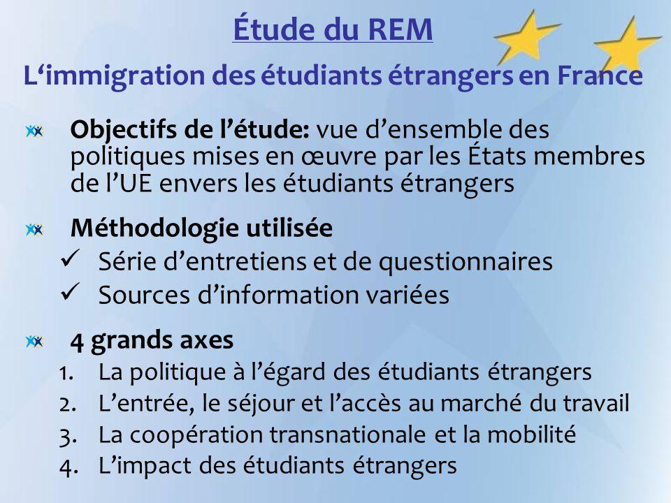 Étude du REM L'immigration des étudiants étrangers en France