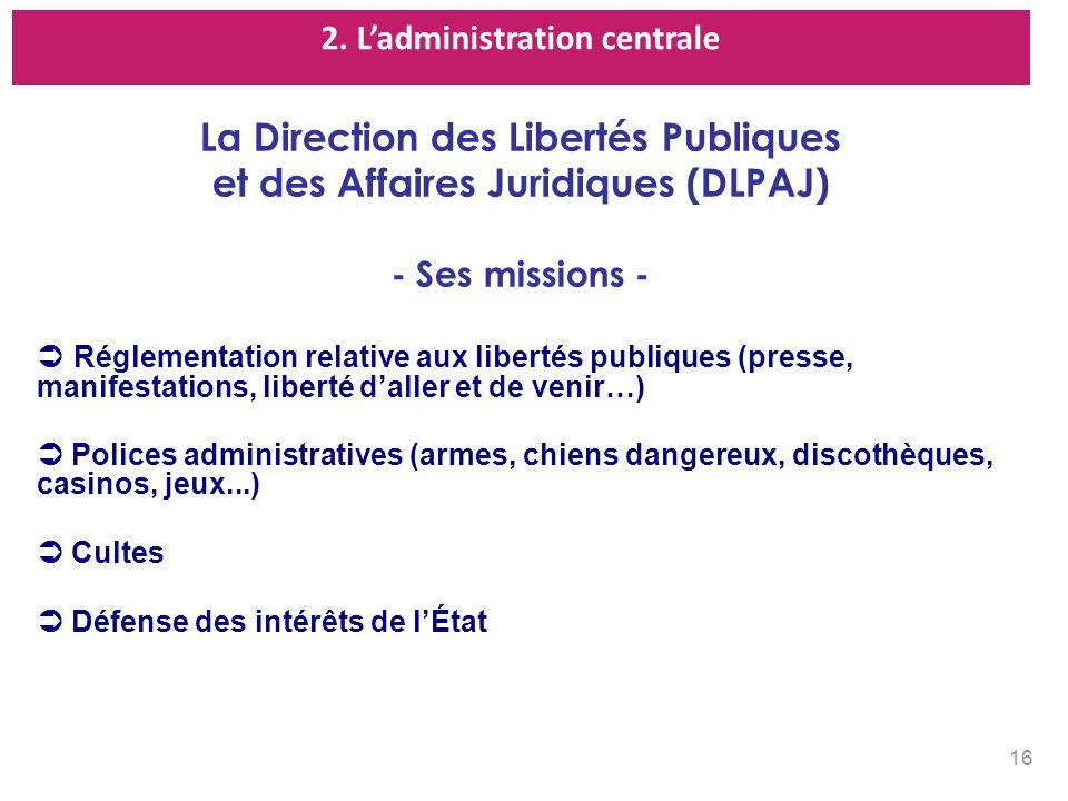 La Direction des Libertés Publiques et des Affaires Juridiques (DLPAJ)