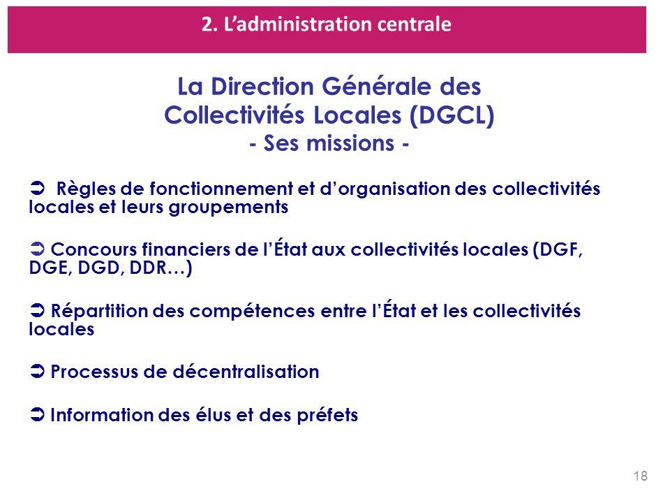 La Direction Générale des Collectivités Locales (DGCL)