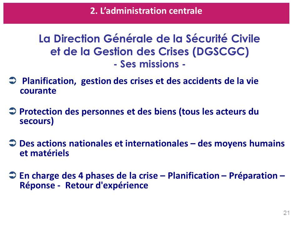 La Direction Générale de la Sécurité Civile