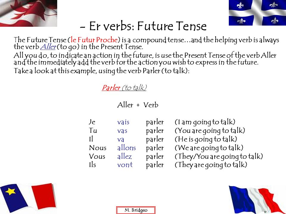 - Er verbs: Future Tense