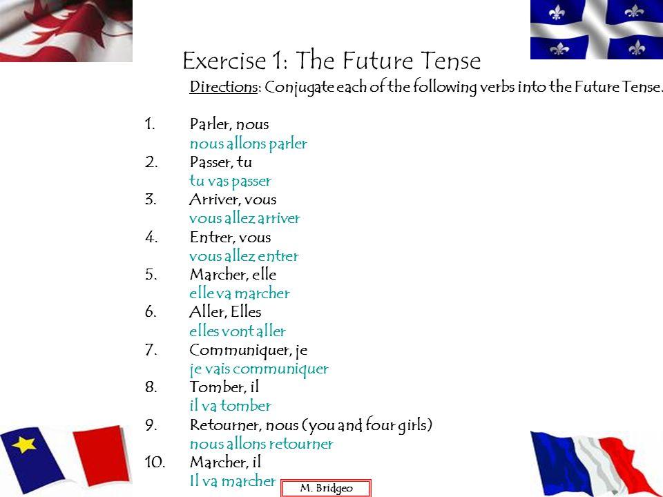 Exercise 1: The Future Tense