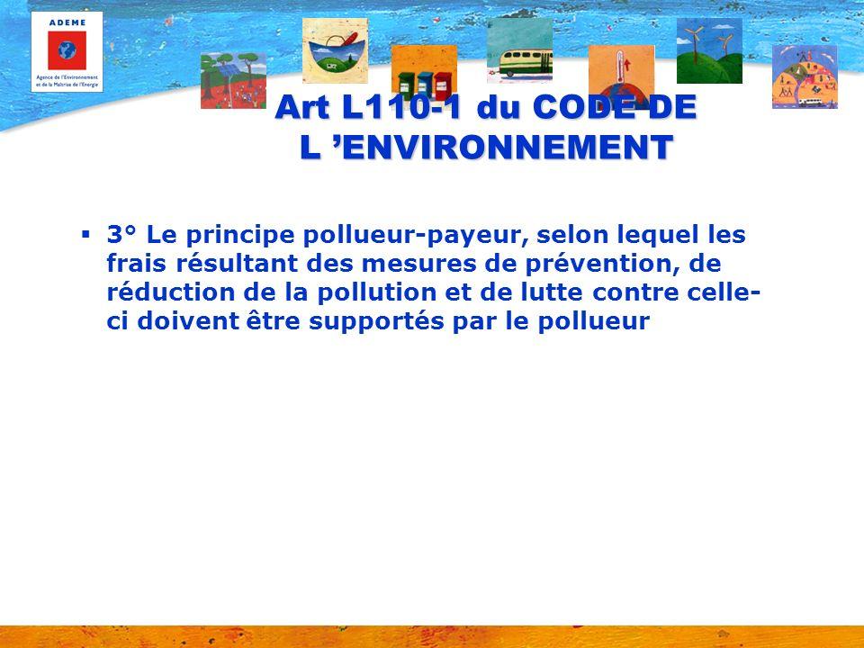 Art L110-1 du CODE DE L 'ENVIRONNEMENT