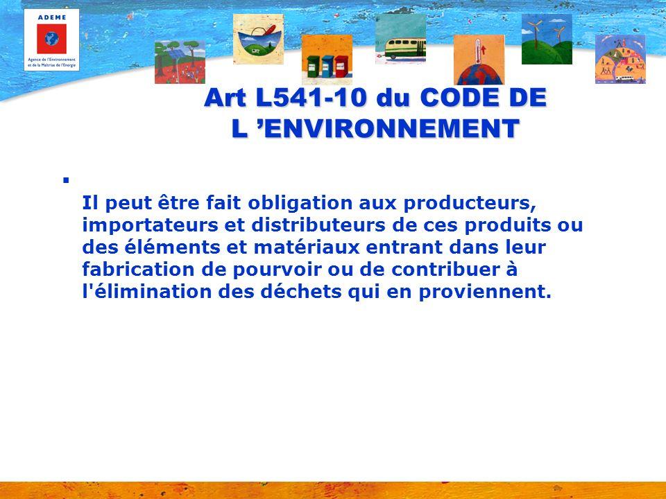 Art L541-10 du CODE DE L 'ENVIRONNEMENT