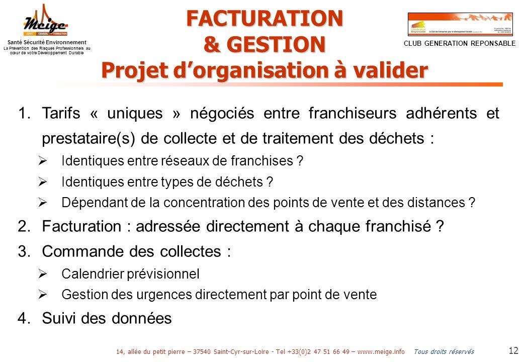 Projet d'organisation à valider