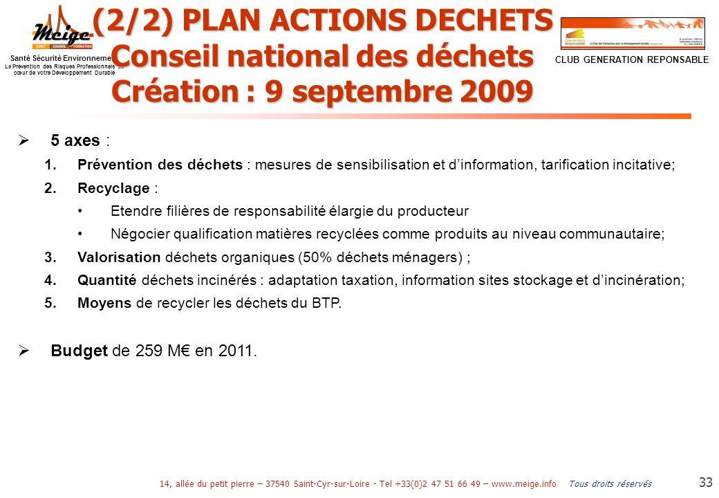 (2/2) PLAN ACTIONS DECHETS Conseil national des déchets