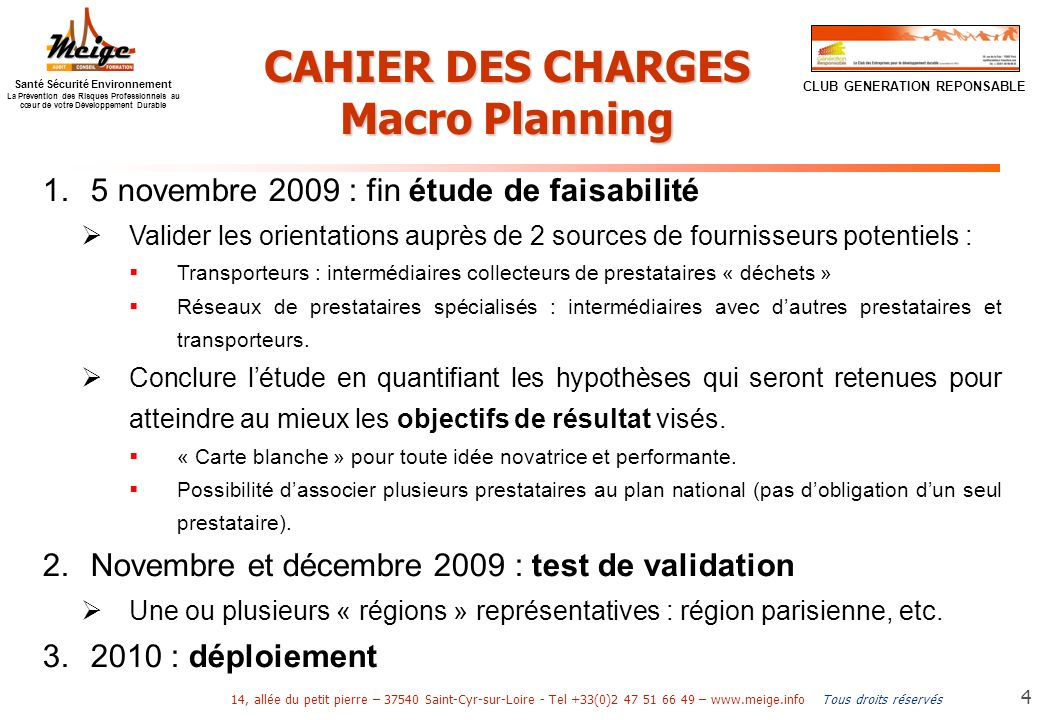 CAHIER DES CHARGES Macro Planning