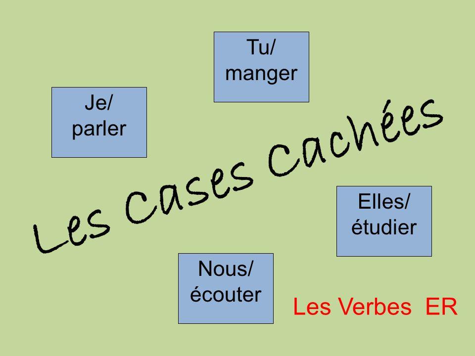 Les Cases Cachées 3 2 Les Verbes ER Tu/ manger Je/ parler Elles/