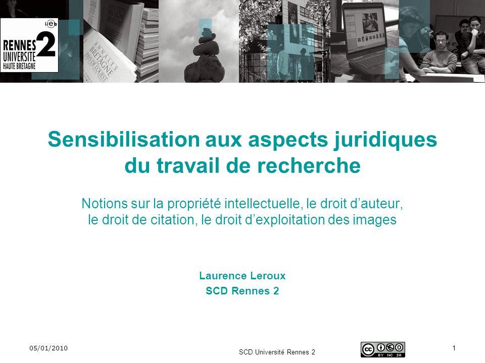 Sensibilisation aux aspects juridiques du travail de recherche