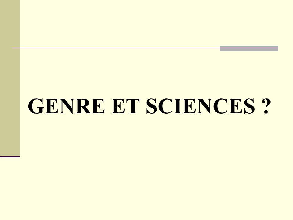 GENRE ET SCIENCES