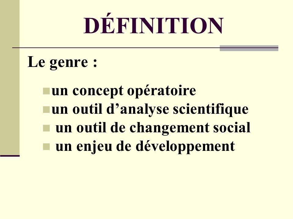 DÉFINITION Le genre : un concept opératoire