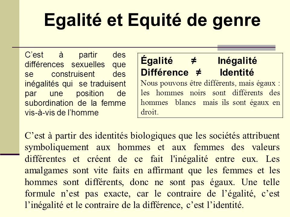 Egalité et Equité de genre