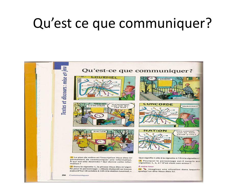 Qu'est ce que communiquer
