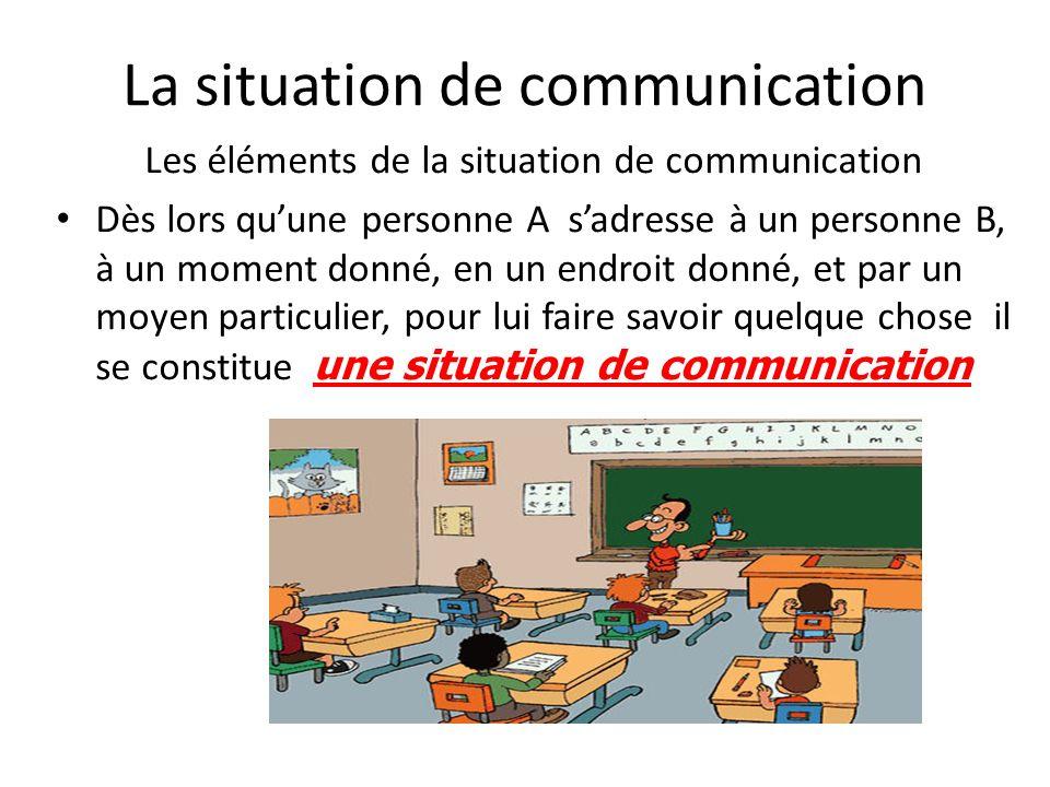 La situation de communication