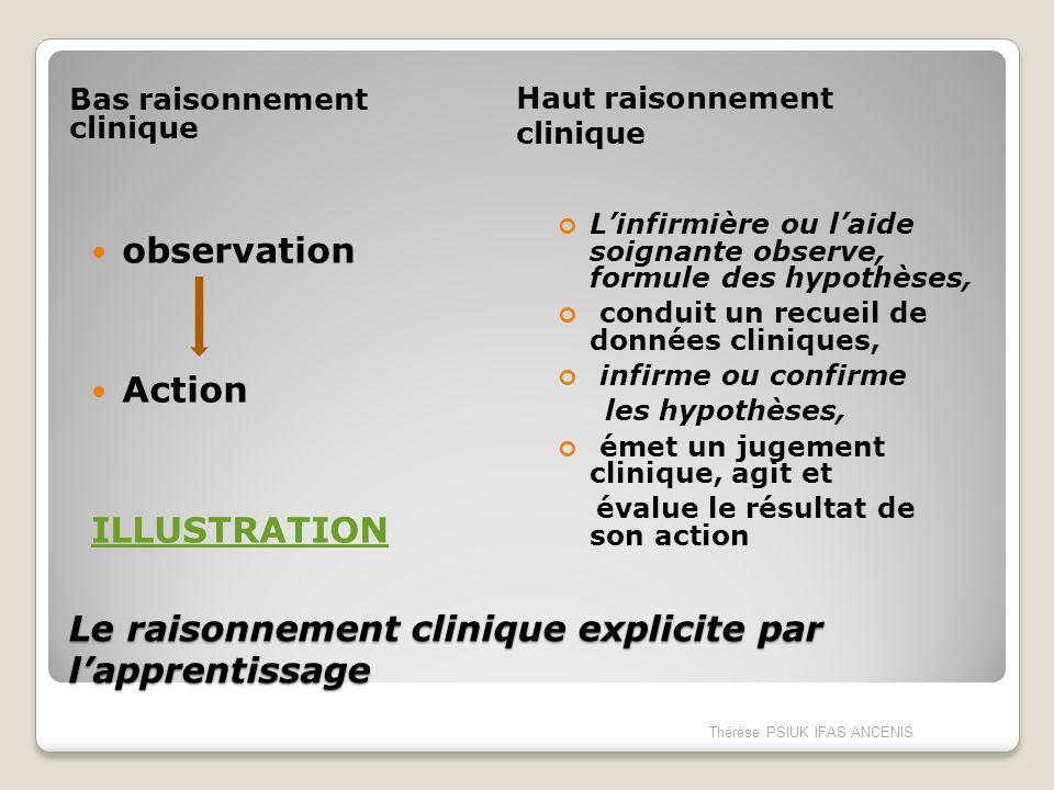 Le raisonnement clinique explicite par l'apprentissage