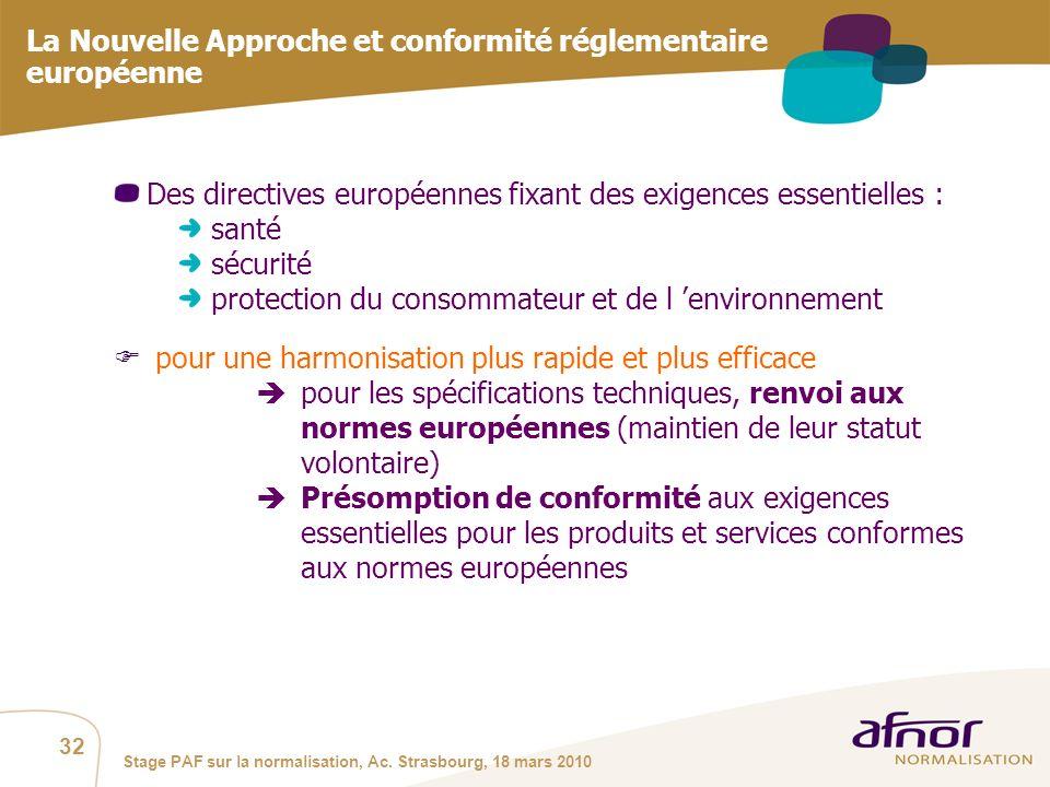 La Nouvelle Approche et conformité réglementaire européenne