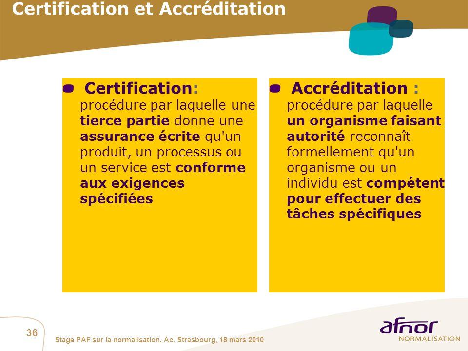 Certification et Accréditation