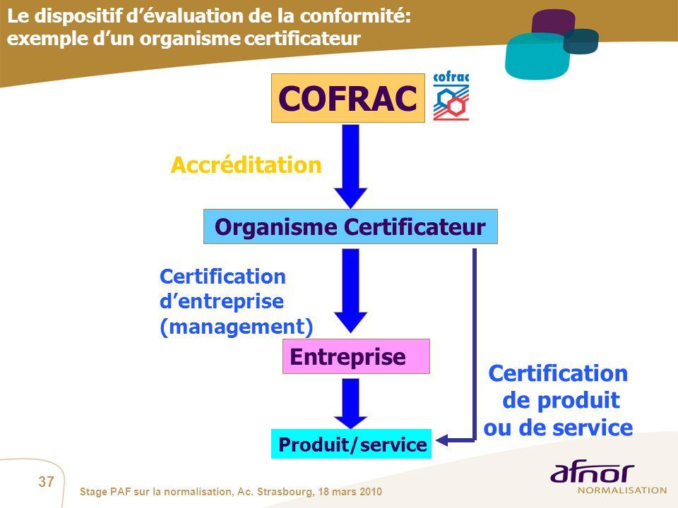 Organisme Certificateur Certification de produit ou de service