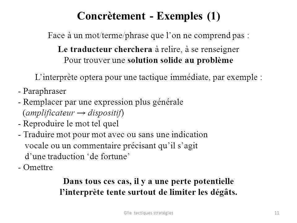 Concrètement - Exemples (1)
