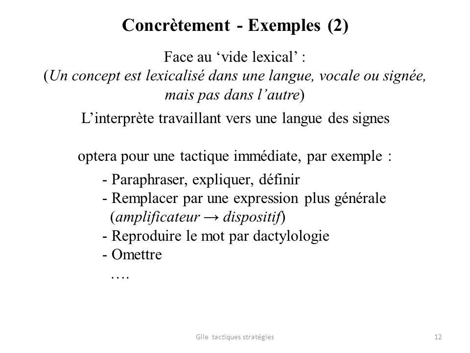 Concrètement - Exemples (2)