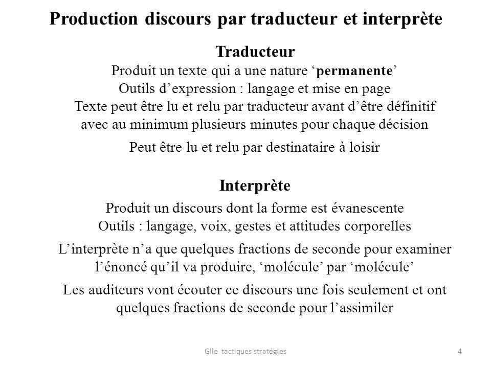 Production discours par traducteur et interprète