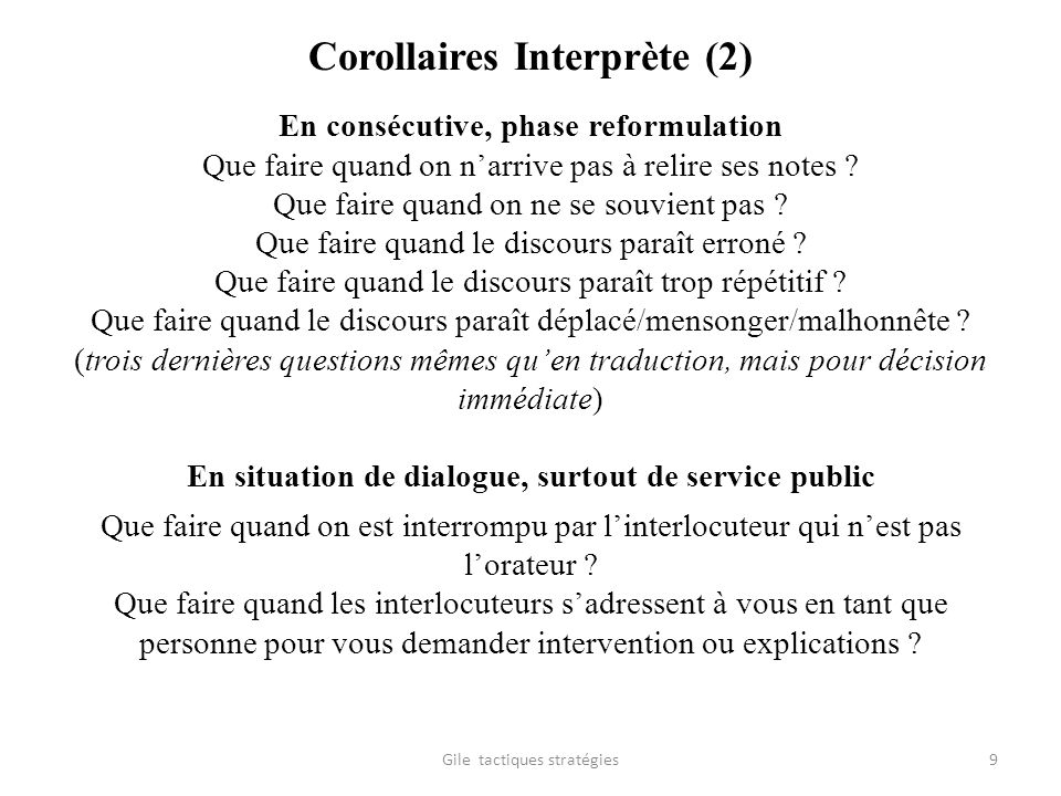 Corollaires Interprète (2)